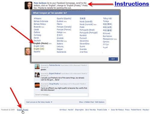facebook Pirate Instructions