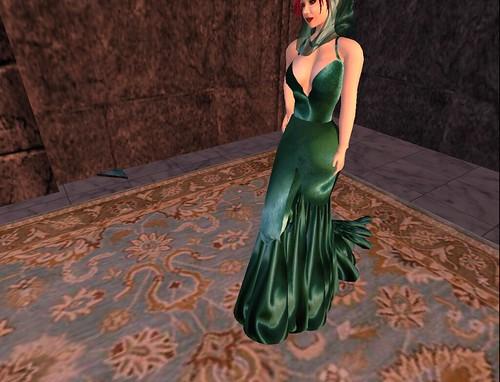 Green Satin Fishtail