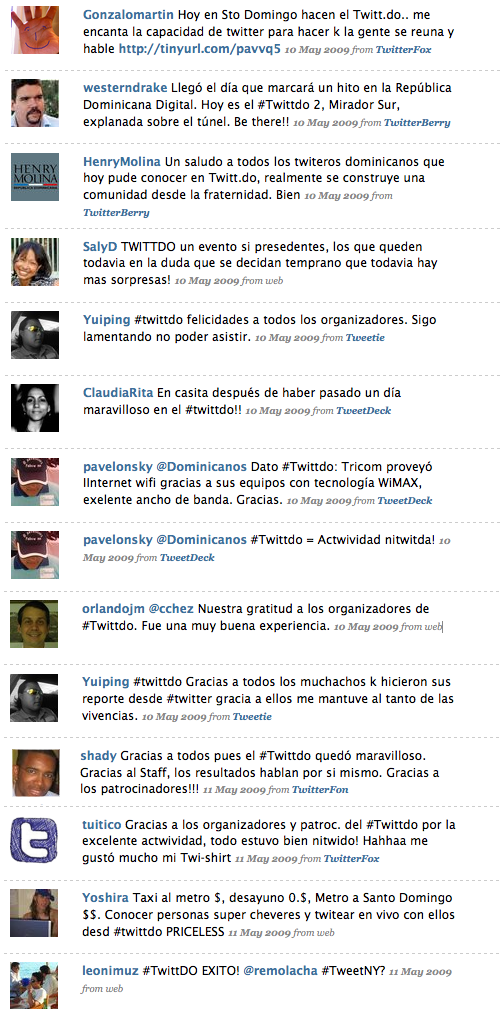 Reacciones TwittDo
