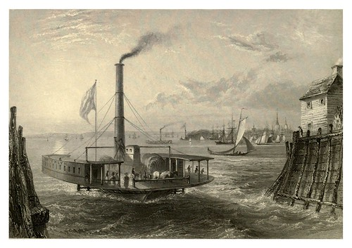 002-El ferry en Brooklin New York 1840