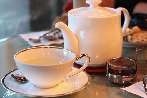Charming floral tea