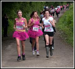 New Running Boots (Klingon50) Tags: pink ladies girls people boots cancer running wellington leigh wellies tutu pennington raceforlife