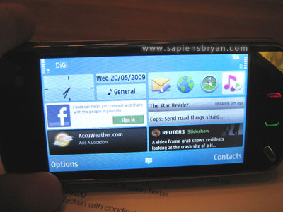 Nokia N97 Main Screen