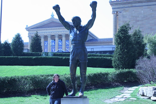 Amy and the Rocky Statue