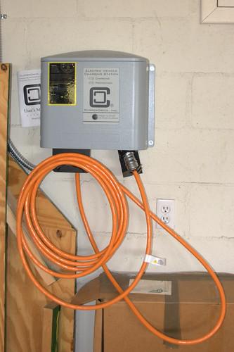 Mini-e's charging station