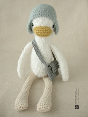 The Messenger Duck (eveluche) Tags: bag duck handmade crochet plush softie messenger etsy amigurumi canard peluche toutou