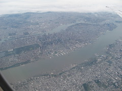 Manhattan from the air (.Kayne.) Tags: park new york city downtown manhattan district central aerial midtown financial