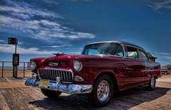 Cars - Ridin' in my Chevy(Explored) (Cory Disbrow) Tags: travel cars chevrolet belair photoshop canon vintage newjersey classiccar lab nj chevy boardwalk autos wildwood jerseyshore 2009 carshow cs4 canonef24105mmf4lisusm topazadjust canon5dmarkii corydisbrow