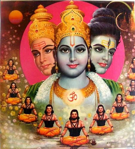 Brahma Vishnu Shiva by hinduism.