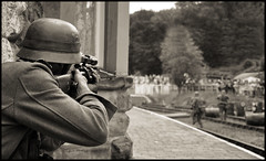 Sniper (Andy Darby) Tags: station army war gun shropshire ss rifle battle german sniper ww2 reenactment ww11 highley battleofhighleystation
