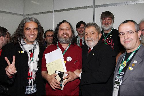 Stallman Honoured in Brazil