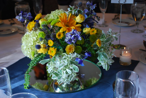 submerged flower centerpieces. Submerged floral centerpieces are a really cool twist