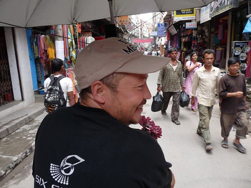 Rickshaw driver in Thamel