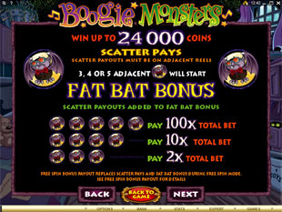 Boogie Monsters payout