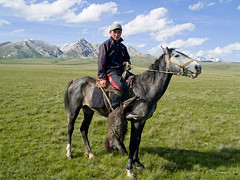 The winner (Evgeni Zotov) Tags: people horse mountain gambling man game animal team asia play sheep shepherd traditional pasture winner prize kyrgyz tradition custom rider kyrgyzstan gamble carcass horseman buzkashi compete herder kirghizistan kirgistan kirgizia herdsman jailoo songkol kirgizistan songkul songkl kirgizi kirgisistan sonkul  sonkol kirguistan kirghizia krgzistan quirguisto    kokboru