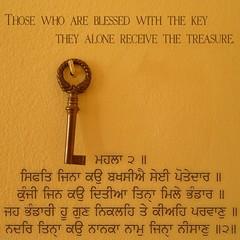 The Key Of The Treasure..... (Akiratghanare) Tags: key waheguru gurbani dhangurugranthsahibmaharaj gurbaniimages