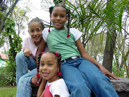 Young Girls in Public Park - San Jose de Ocoa - Dominican Republic