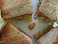 Chicken salad club (close-up)
