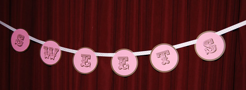 pink and brown SWEET banner