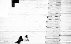 Sunday Morning... (Gremxul) Tags: light shadow people blackandwhite bw monochrome lines stairs composition contrast nikon shadows candid steps highcontrast malta shades minimal shade nikkor blackwhitephotos nikkor18200mm d7000 unusualviewsperspectives gremxul nikond7000