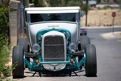 on the road again (bytegirl24) Tags: newmexico santafe car stopsign hotrod roaster