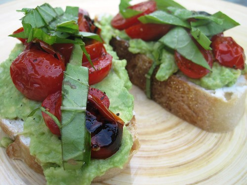 Tomato Avocado Toasts