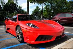 Ferrari 430 Scuderia (sledhockeystar7) Tags: street red mall nikon parking lot ferrari spot americana parked dslr scuderia f430 430 scud manhasset d3000 sledhockeystar7