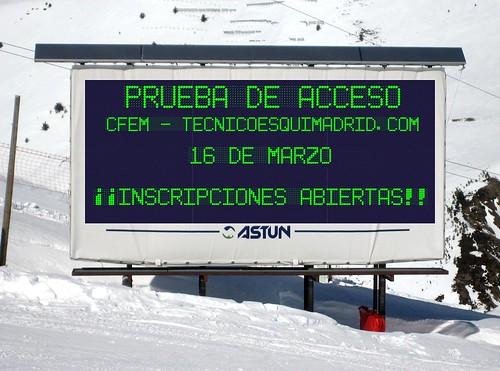 Prueba de acceso Tecnico Deportivo Esquí