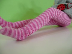 New! Pink stripes with embroidery flowers