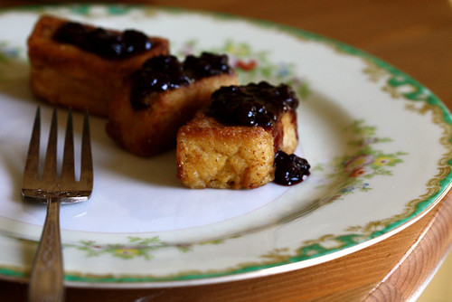 Fried Breakfast Polenta with Blackberry Meyer Lemon Jam