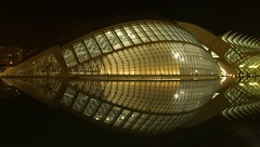 Hemisfric night view . Valencia (jovidoes) Tags: bridge art water valencia river puente lights photo interesting spain flickr mediterraneo gallery foto photographer arte photos top explore calatrava pont planetarium nightview flu photostream belleza visin percepcion mediterranea finearts equilibrio armona turia hemisfric hemisferico supershot sellection expolore comunitatvalenciana mywinners jovidoes artssciencescity joaquinvicente joaquinvicenteespilluch joaquinespi joaquinespilluch