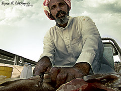 Fisherman (Rayan M.) Tags: portrait fish west cuisine fisherman dish cut south knife kingdom saudi arabia local hdr                    meefa