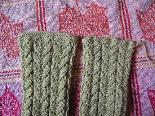 Green Lace Socks 1