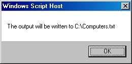 VB Script writes output to c:\Computers.txt