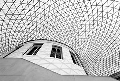 Dancing Shadows (Philipp Klinger Photography) Tags: uk roof light shadow england sky blackandwhite bw white black reflection building london window up lines stone wall museum architecture modern stairs court blackwhite nikon europa europe arch shadows angle dancing unitedkingdom britain pov united great wide kingdom grand ceiling line norman diagonal foster bm gb sw british britishmuseum sir schwarzweiss philipp weiss spiegelung sigma1224mm 2009 schwarz sirnormanfoster klinger dancingshadows d700 overtheexcellence ostrellina