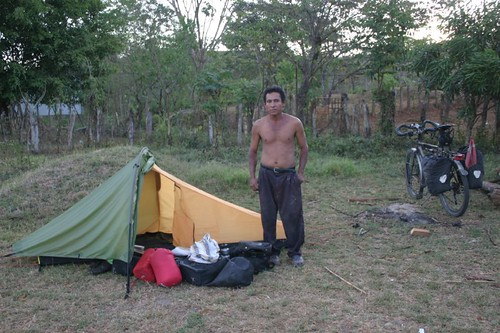 Front yard camping at Ernesto in western Panama...