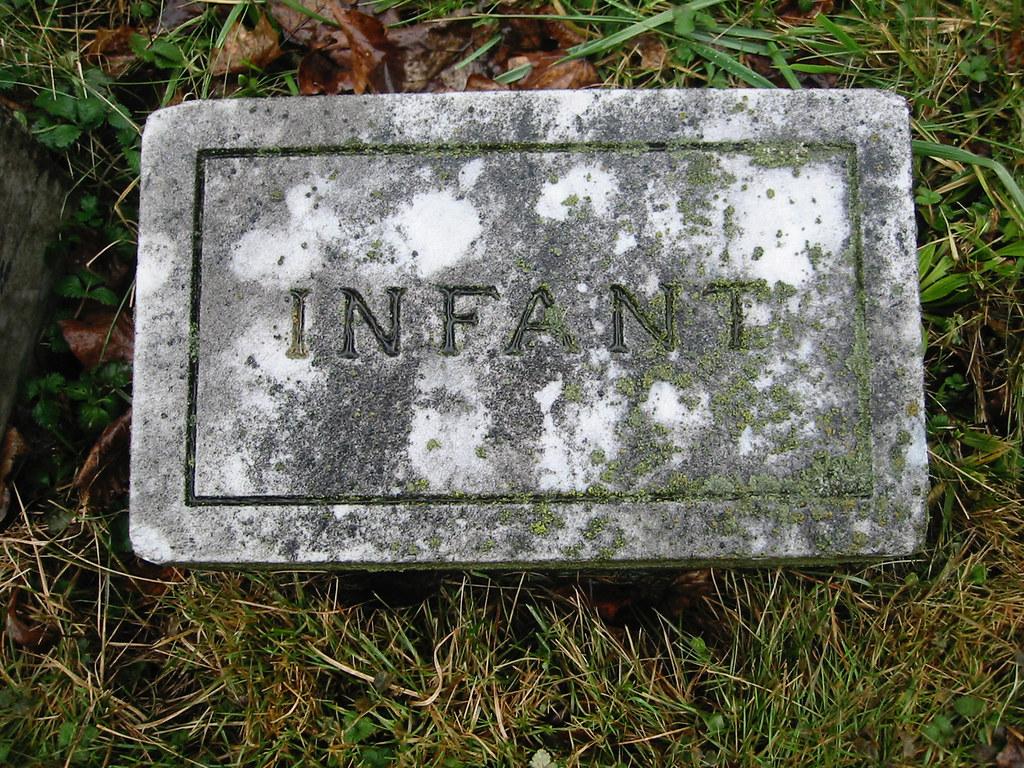 Infant Grave Marker Moss Cemetery