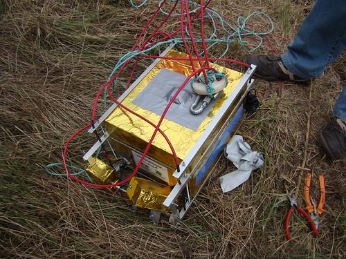 La sonda en el moment que la vam trobar