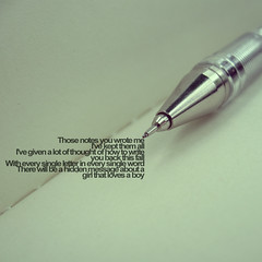 There is (xdesx) Tags: moleskine pen typography journal oldphoto typo thereis boxcarracer toooblahtoshootsomethingnew