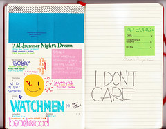 Week X (sullface) Tags: red moleskine typography march day calendar post notes bright lol girly anal journal it 03 organizer 02 week doodles said pens february feb weekly 2009 planner organized staedtler jrnl fineliner stalkerish typog triplus