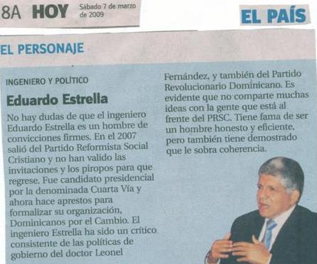 periodico Hoy: ingeniero y politico