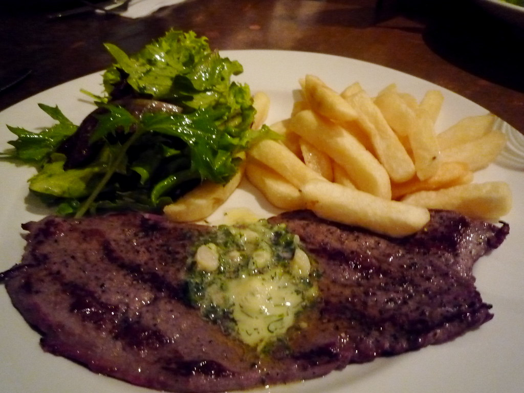 Minute steak at Cherry Tree