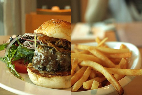 The Fabulous Prive Burger & French Fries with Truffle Oil