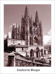 Catedral de Burgos (sepia) (osolev) Tags: city espaa sepia architecture town spain arquitectura europa europe stitch cs2 monumento catedral ciudad ps burgos castilla gotico roseton autopano