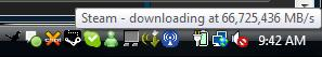 Downloading from Steam at the speed of 66,725,436MB/s