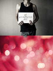 You're My Everything (Stephen.James) Tags: light red blackandwhite bw love handwriting dark diptych heart bokeh romance card dippy