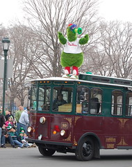 The Phillie Phanatic at the Philadelphia St. Patrick's Day Parade