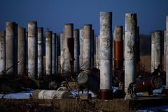 Columns (k.landerholm) Tags: minnesota entropy ruins flickr decay columns historic twincities gow rosemount dakotacounty umorepark gopherordnanceworks productionlined