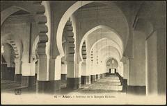 Interior view, El-Kbir Mosque (GRI) (Getty Research Institute) Tags: algiers early20thcentury interiorview gettyresearchinstitute algiersalgeria phcienancy mosqueelkbir elkbirmosque commons:event=commonground2009