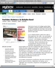 "Mytech - ""YouTube: Kutiman e la Babylon Band"""